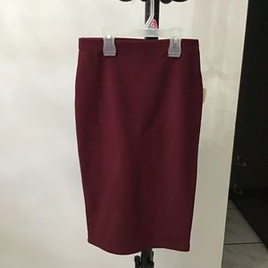 Forever 21 Burgundy Pencil Skirt